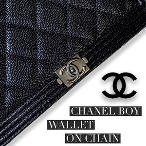 Chanel Boy Wallet On Chain 100% AUTHENTIC